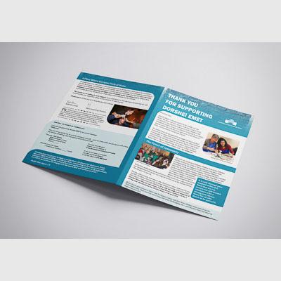 Non profit annual fundraising flyer spread