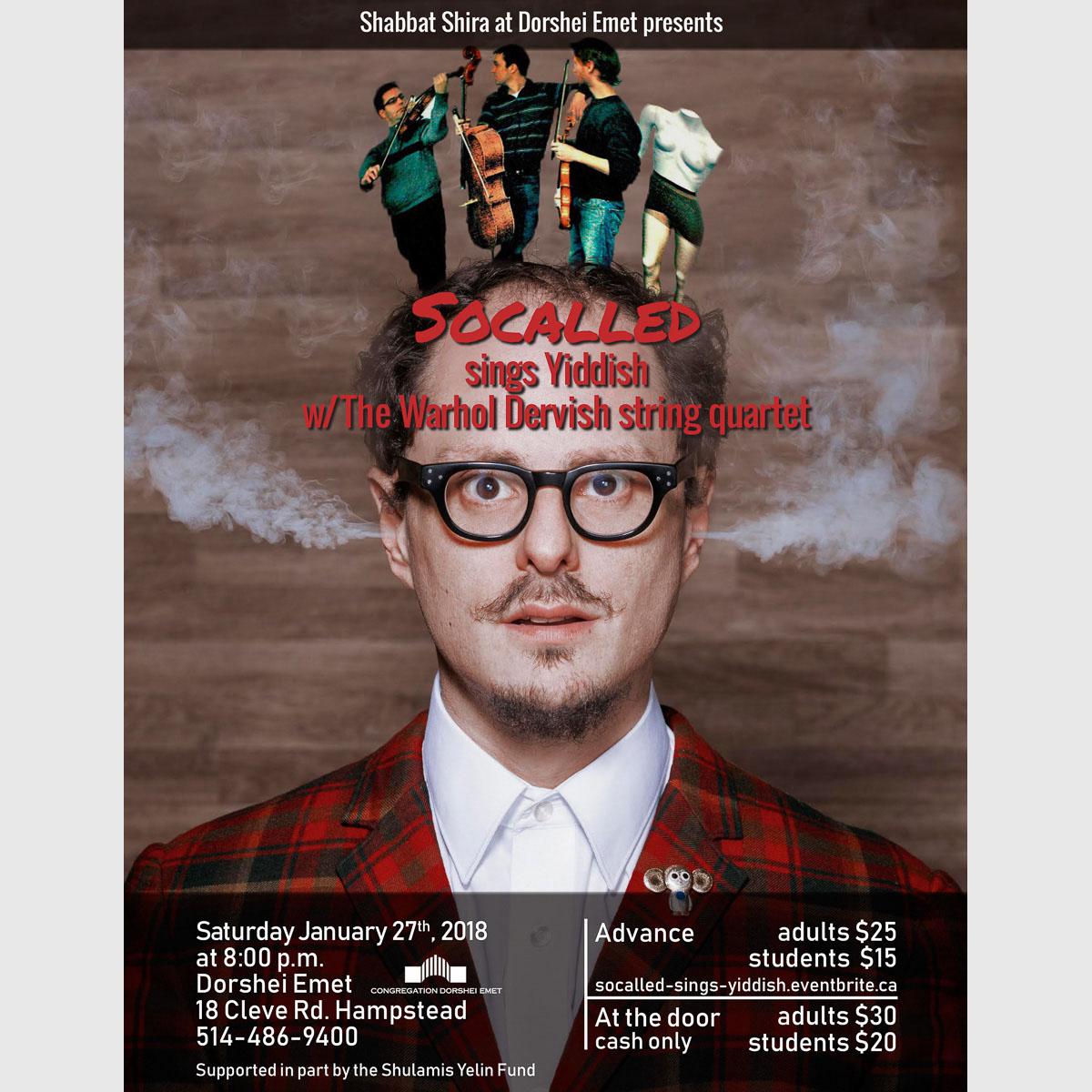 Concert poster for niche artist SoCalled