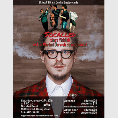 Concert poster for Socalled