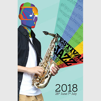 Montreal Jazz Festival poster with original photography