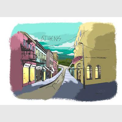 ink illustration digitally coloured